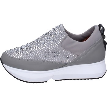 Παπούτσια Γυναίκα Slip on Alexander Smith slip on tessuto strass Grigio