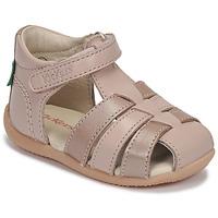 Παπούτσια Κορίτσι Σανδάλια / Πέδιλα Kickers BIGFLO-2 Ροζ / Μεταλικό