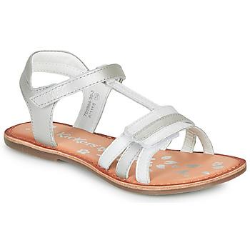 Παπούτσια Κορίτσι Σανδάλια / Πέδιλα Kickers DIAMANTO Άσπρο