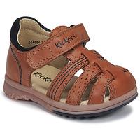 Παπούτσια Αγόρι Σανδάλια / Πέδιλα Kickers PLATIBACK Camel