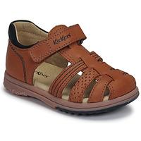 Παπούτσια Αγόρι Σανδάλια / Πέδιλα Kickers PLATIBACK Brown