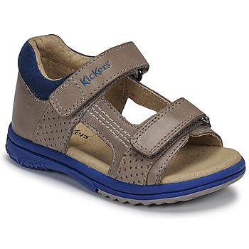 Παπούτσια Αγόρι Σανδάλια / Πέδιλα Kickers PLAZABI Grey / Μπλέ