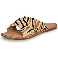 Παπούτσια Γυναίκα Τσόκαρα Kickers DIAZ-2 Beige / Black / Brown