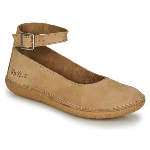Παπούτσια Γυναίκα Μπαλαρίνες Kickers HONNORA Beige