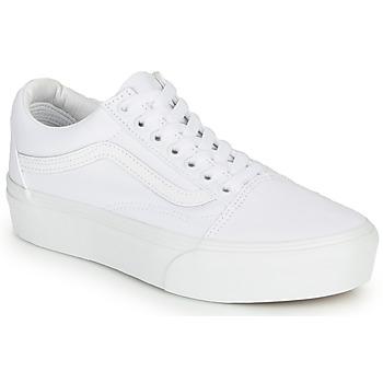 Παπούτσια Γυναίκα Χαμηλά Sneakers Vans OLD SKOOL PLATFORM Άσπρο