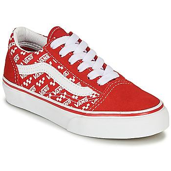 Παπούτσια Παιδί Χαμηλά Sneakers Vans OLD SKOOL Red / Άσπρο