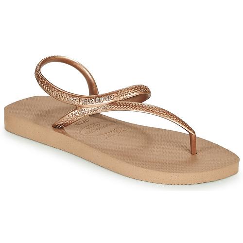 Παπούτσια Γυναίκα Σαγιονάρες Havaianas FLASH URBAN Ροζ / Gold