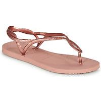 Παπούτσια Γυναίκα Σαγιονάρες Havaianas LUNA Ροζ / Gold