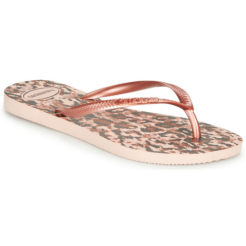 Παπούτσια Γυναίκα Σαγιονάρες Havaianas SLIM ANIMALS Ροζ / Gold