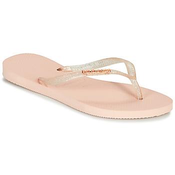 Παπούτσια Γυναίκα Σαγιονάρες Havaianas SLIM LOGO METALLIC Ροζ