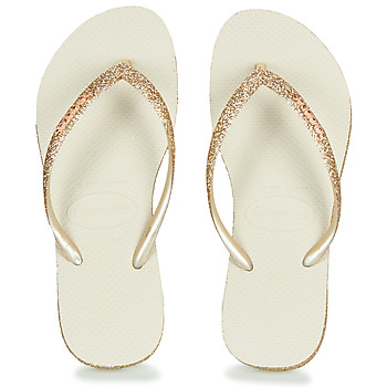 Παπούτσια Γυναίκα Σαγιονάρες Havaianas SLIM SPARKLE Beige / Gold