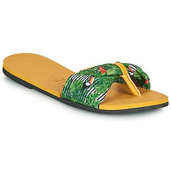 Παπούτσια Γυναίκα Σαγιονάρες Havaianas YOU SAINT TROPEZ Yellow / Green