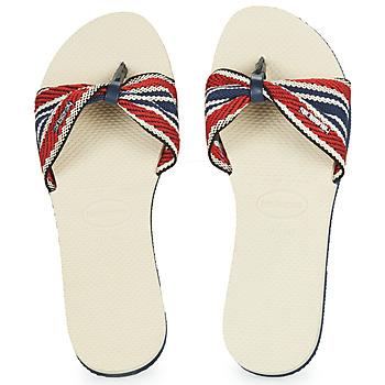 Παπούτσια Γυναίκα Σαγιονάρες Havaianas YOU SAINT TROPEZ FITA Beige / Marine / Red