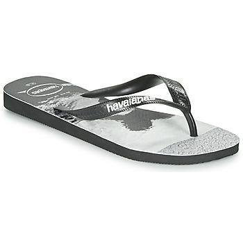 Παπούτσια Άνδρας Σαγιονάρες Havaianas TOP PHOTOPRINT Black / Άσπρο