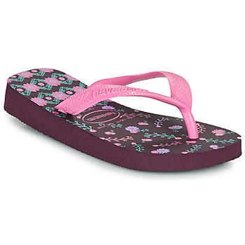 Παπούτσια Κορίτσι Σαγιονάρες Havaianas KIDS FLORES Aubergine