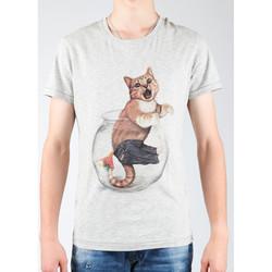Υφασμάτινα Άνδρας T-shirts & Μπλούζες Wrangler Light Grey Mel W7940IS03 grey