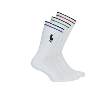 Αξεσουάρ Άνδρας Κάλτσες Polo Ralph Lauren 3PK BPP-SOCKS-3 PACK Άσπρο