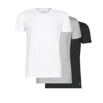 Υφασμάτινα Άνδρας T-shirt με κοντά μανίκια Polo Ralph Lauren WHITE/BLACK/ANDOVER HTHR pack de