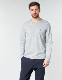 Υφασμάτινα Άνδρας Μπλουζάκια με μακριά μανίκια Polo Ralph Lauren L/S CREW-CREW-SLEEP TOP Grey