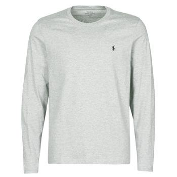 Υφασμάτινα Άνδρας T-shirt με κοντά μανίκια Polo Ralph Lauren L/S CREW-CREW-SLEEP TOP Grey