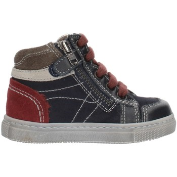 Παπούτσια Αγόρι Ψηλά Sneakers Nero Giardini A724352M Blue Gray and Bordeaux