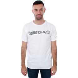 Υφασμάτινα Άνδρας T-shirt με κοντά μανίκια Gas GATS01 JUNGLE T-SHIRT AB30 WHITE JUNGLE Blanco