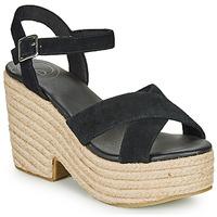 Παπούτσια Γυναίκα Σανδάλια / Πέδιλα Superdry HIGH ESPADRILLE SANDAL Black