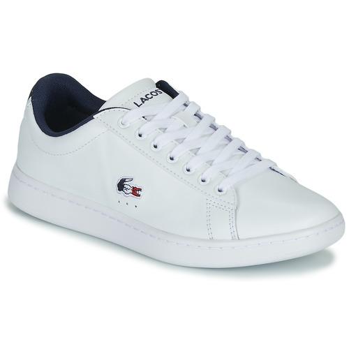 Παπούτσια Γυναίκα Χαμηλά Sneakers Lacoste CARNABY EVO TRI 1 SFA Άσπρο / Marine / Red