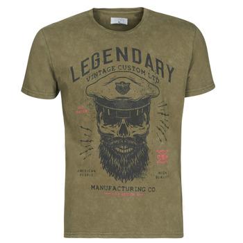 Υφασμάτινα Άνδρας T-shirt με κοντά μανίκια Casual Attitude MCOOL Kaki