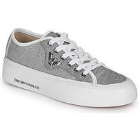 Παπούτσια Γυναίκα Χαμηλά Sneakers Emporio Armani X3X109-XL487 Silver