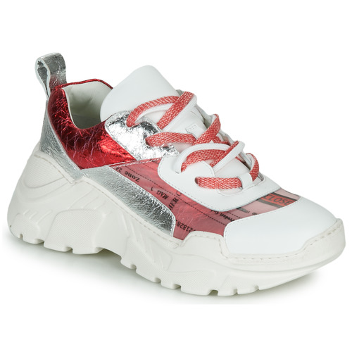 Παπούτσια Γυναίκα Χαμηλά Sneakers Fru.it CARETTE Άσπρο / Red / Silver