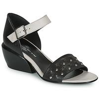 Παπούτσια Γυναίκα Σανδάλια / Πέδιλα Fru.it  Black / Άσπρο