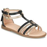 Παπούτσια Κορίτσι Σανδάλια / Πέδιλα Geox J SANDAL KARLY GIRL Black / Gold