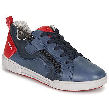 Xαμηλά Sneakers Geox J POSEIDO BOY ΣΤΕΛΕΧΟΣ: Δέρμα / ύφασμα & ΕΠΕΝΔΥΣΗ: Ύφασμα & ΕΣ. ΣΟΛΑ: Δέρμα & ΕΞ. ΣΟΛΑ: Καουτσούκ
