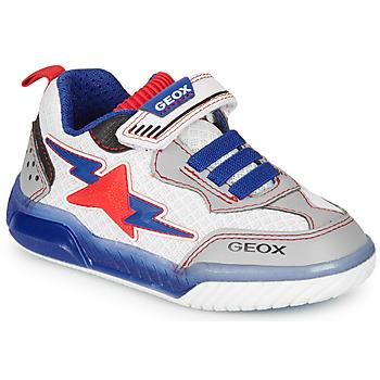 Παπούτσια Αγόρι Χαμηλά Sneakers Geox J INEK BOY Άσπρο / Μπλέ / Red