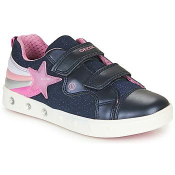 Παπούτσια Κορίτσι Χαμηλά Sneakers Geox J SKYLIN GIRL Marine / Ροζ