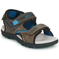 Παπούτσια Αγόρι Σπορ σανδάλια Geox JR SANDAL STRADA Brown / Μπλέ