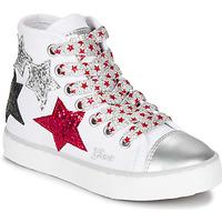 Παπούτσια Κορίτσι Ψηλά Sneakers Geox JR CIAK GIRL Άσπρο / Red / Black