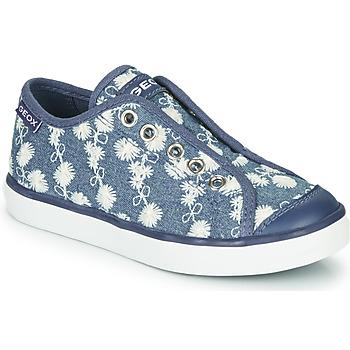 Παπούτσια Κορίτσι Χαμηλά Sneakers Geox JR CIAK GIRL Μπλέ / Άσπρο