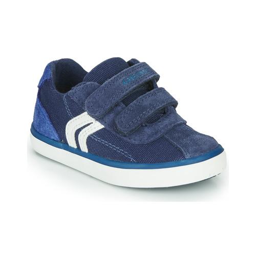 Παπούτσια Αγόρι Χαμηλά Sneakers Geox B KILWI BOY Μπλέ / Άσπρο