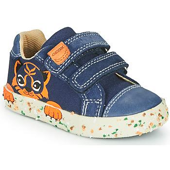 Παπούτσια Αγόρι Χαμηλά Sneakers Geox B KILWI BOY Marine / Brown