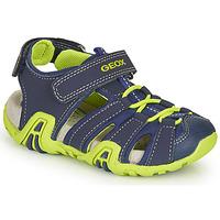Παπούτσια Αγόρι Σπορ σανδάλια Geox B SANDAL KRAZE Marine / Green