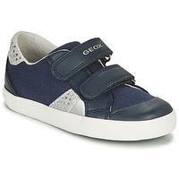 Παπούτσια Κορίτσι Χαμηλά Sneakers Geox B GISLI GIRL Marine / Argenté