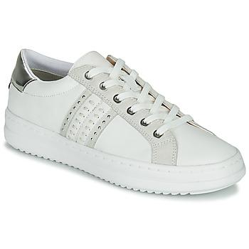 Παπούτσια Γυναίκα Χαμηλά Sneakers Geox D PONTOISE Άσπρο / Silver