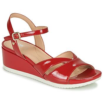 Παπούτσια Γυναίκα Σανδάλια / Πέδιλα Geox D ISCHIA Red