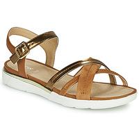 Παπούτσια Γυναίκα Σανδάλια / Πέδιλα Geox D SANDAL HIVER Gold / Brown