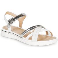 Παπούτσια Γυναίκα Σανδάλια / Πέδιλα Geox D SANDAL HIVER Silver / Άσπρο