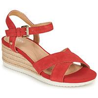 Παπούτσια Γυναίκα Σανδάλια / Πέδιλα Geox D ISCHIA CORDA Red