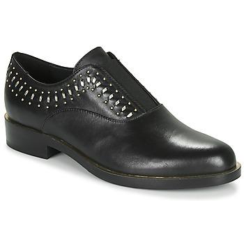 Παπούτσια Γυναίκα Derby Geox D BROGUE S Black / Gold