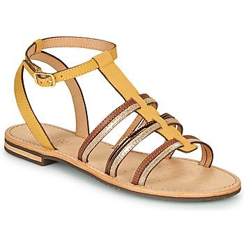 Παπούτσια Γυναίκα Σανδάλια / Πέδιλα Geox D SOZY Yellow / Brown / Gold